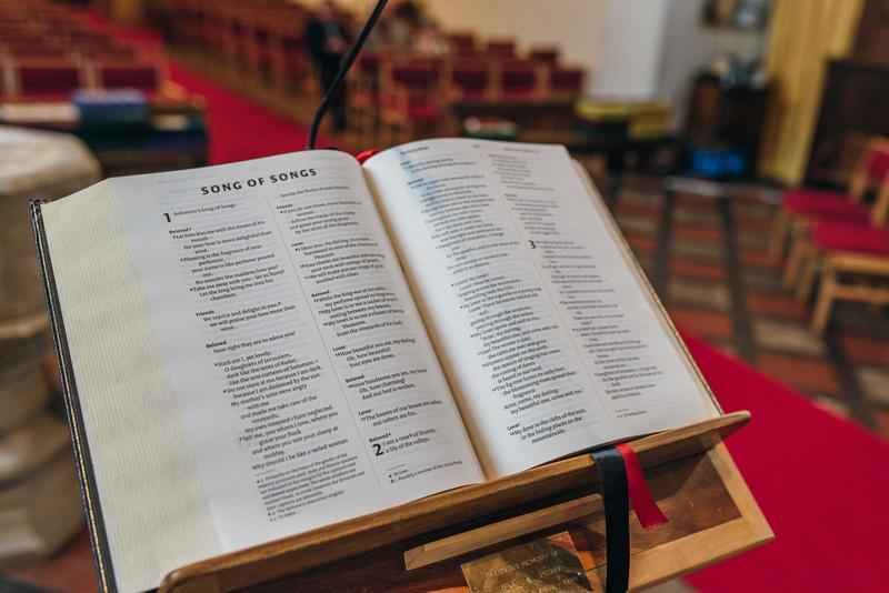 Hymn book at St Marys church