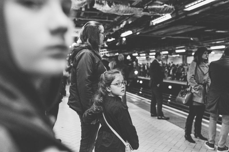 documentary photography at Victoria Station waiting for the tube